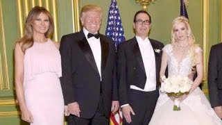 Trump attends Treasury Secretary Mnuchin's wedding