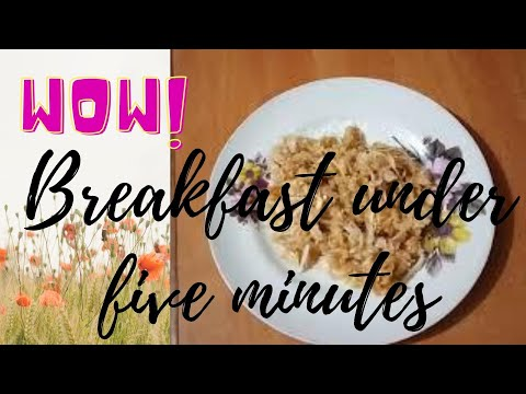 Sweet poha recipe   meetha poha   cooking without fire/ Breakfast under 10 minutes