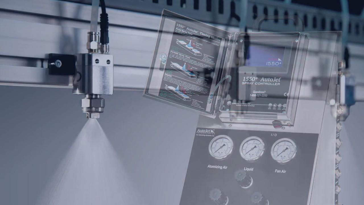 Autojet R Model 1550 Modular Spray System Set Up