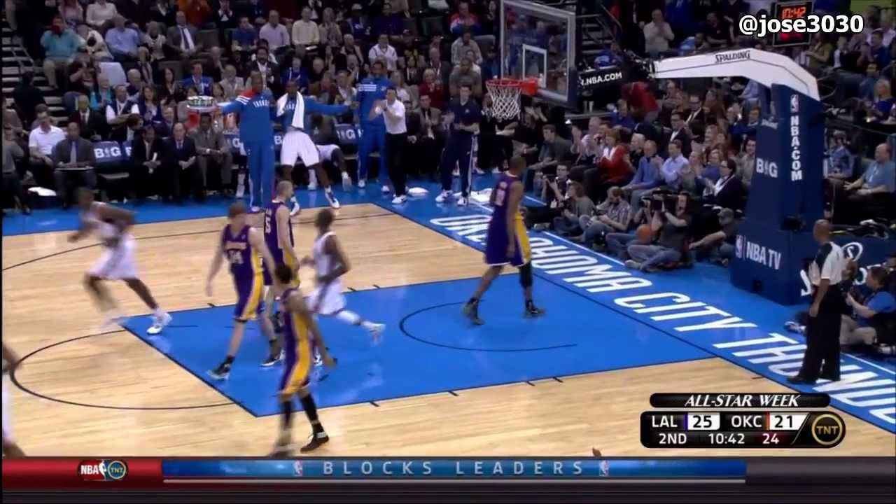 Reggie Jackson Dunk - Lakers @ Thunder 2/23/2012 - YouTube