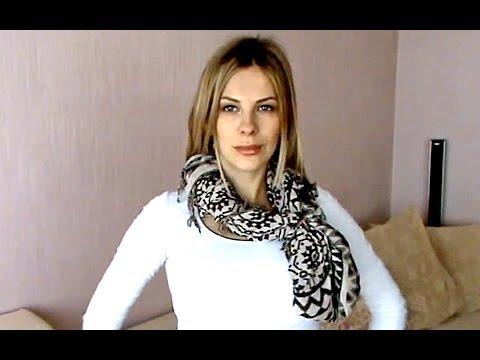 Как красиво завязать шарф. Способы завязывания шарфа.