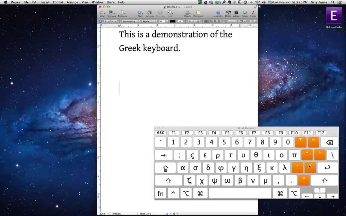 Polytonic Greek Keyboard on the Mac
