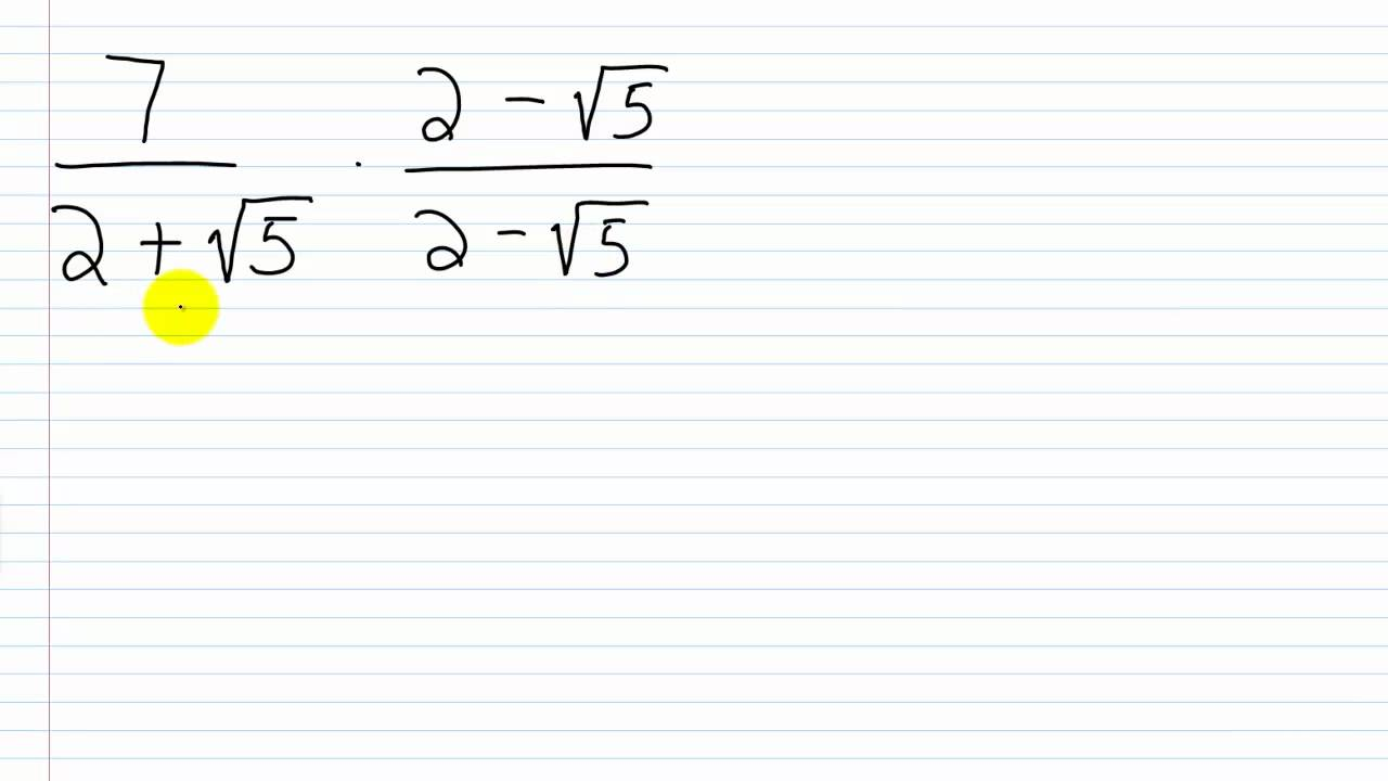 Algebra I Help Rationalizing The Denominator With
