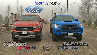 2019 Ford Ranger Lariat FX4 Vs 2019 Toyota Tacoma TRD Pro | Head 2 Head | Off-Road