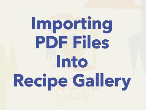Importing PDF Files into Recipe Gallery