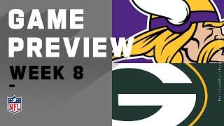 Minnesota Vikings vs. Green Bay Packers   NFL Week 8 Game Preview