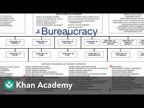 Introduction to the federal bureaucracy | US government and civics | Khan Academy