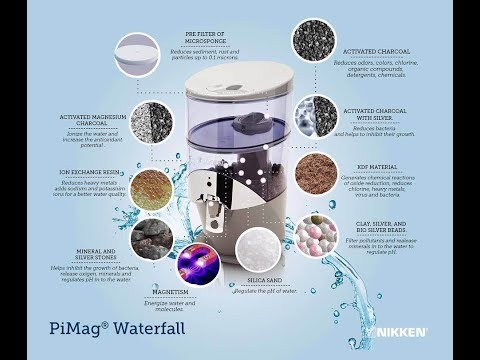 Nikken Waterfall Living Water Filtration, remineralization and ionization