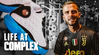 TALKING WITH JUVENTUS PLAYERS AND CUSTOMIZING AIR JORDAN 13 | #LIFEATCOMPLEX