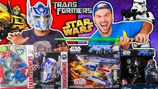 TESTANDO BRINQUEDOS DE STAR WARS E TRANSFORMERS (MUITA TECNOLOGIA) thumbnail