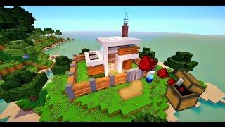 Casa de Redstone en un cofre! / Casa que se construye SOLA!