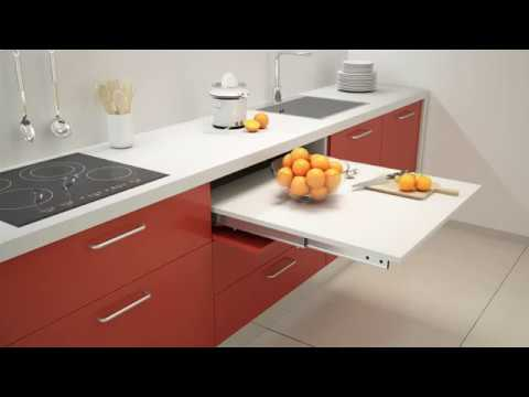 Pull Out Kitchen Table cocktail pull out kitchen table / worktop | box15 - youtube