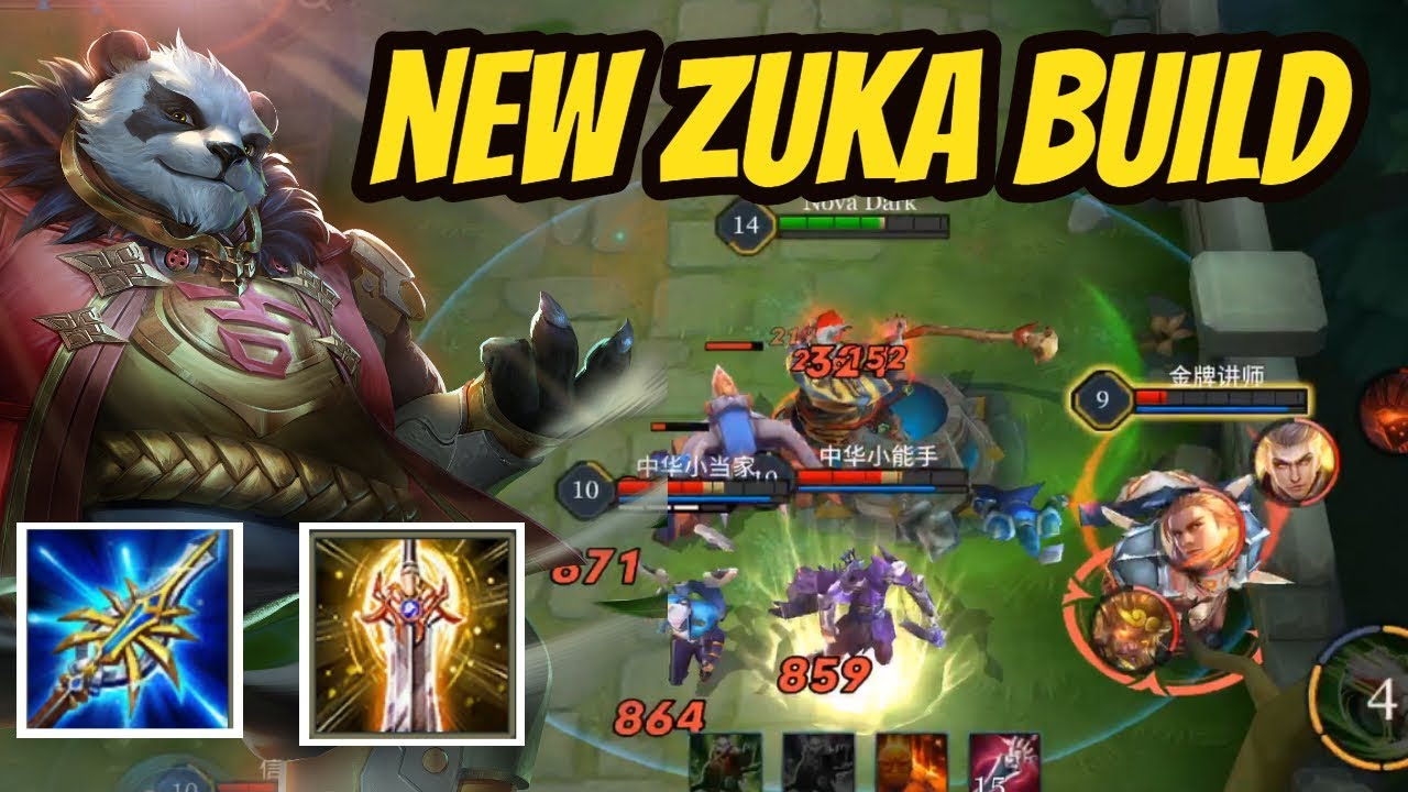 Zuka New Build Insane Damage Arena Of Valor Zuka Gameplay