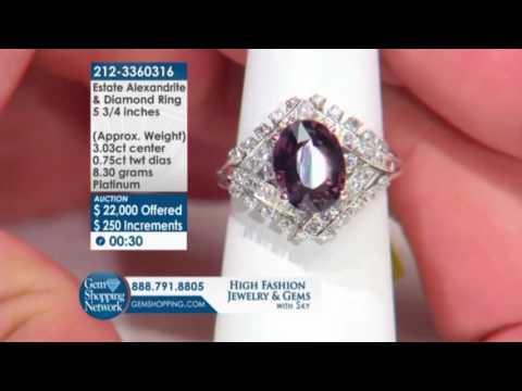 Jewelry Auction: Estate Alexandrite & Diamond Ring - Gem Shopping Network