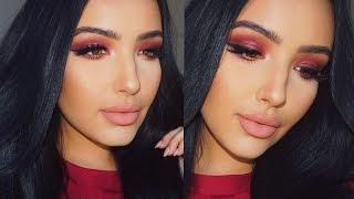 Fall Makeup Tutorial | Cranberry Sparkle