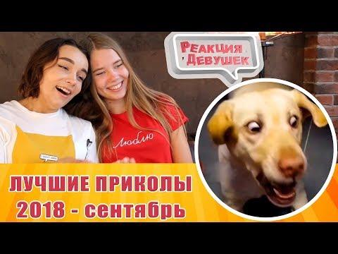 Реакция девушек - ЛУЧШИЕ ПРИКОЛЫ 2018 Сентябрь. Реакция