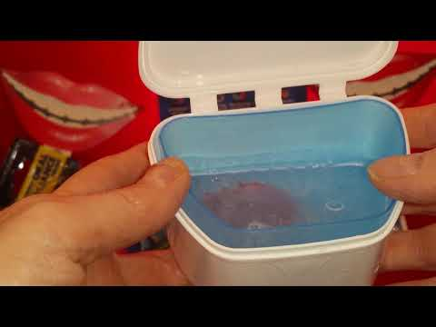 How to clean mouth guards, retainers, removal braces, dentures etc with the oral appliance care kit