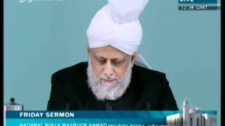 Cuma Hutbesi Türkçe tercümesi 29th July 2011 - Islam Ahmadiyya