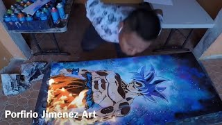 Son Goku ultra Instint Spray Paint art