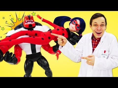 Игрушки из мультфильмов про Бен 10! Силач уменьшился в лаборатории Доктора Ой!