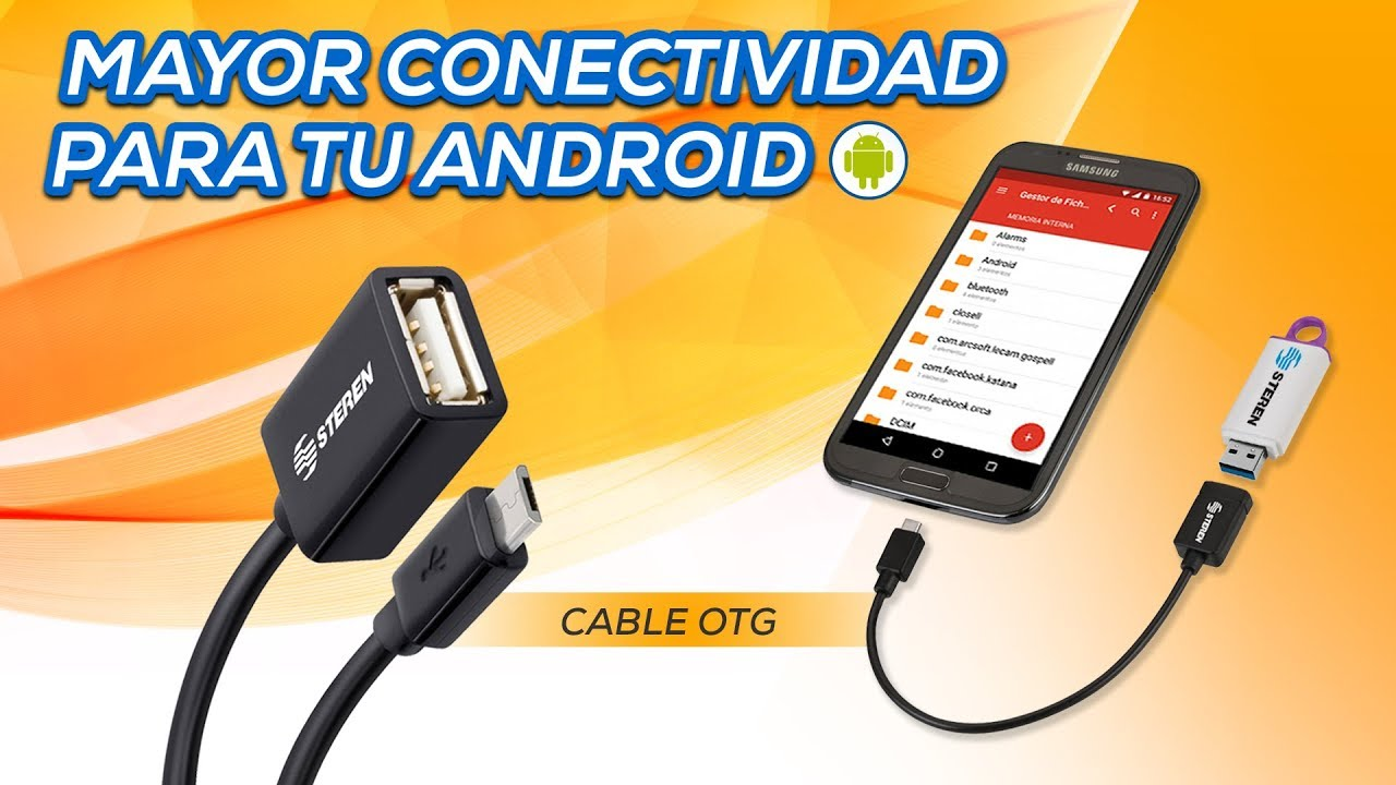 Cable Otg Para Celulares Android Usb 455 Youtube