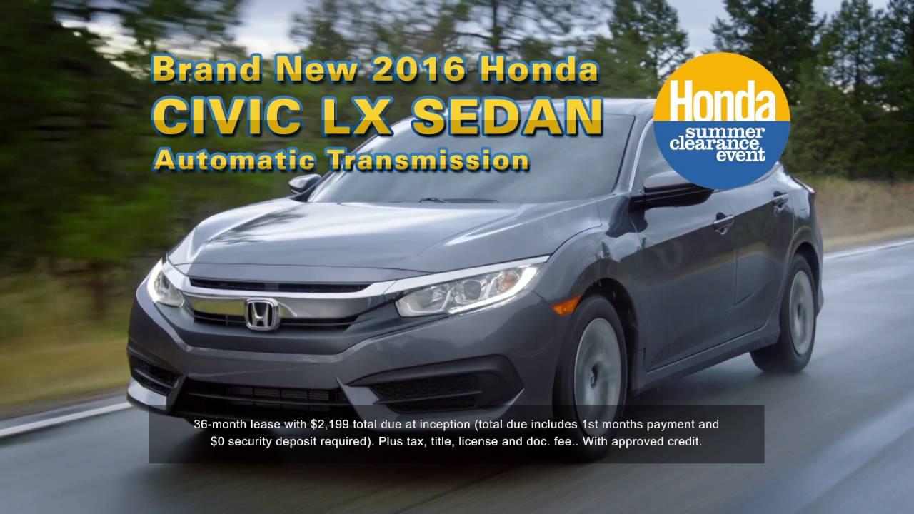 Honda labor day sale 2016