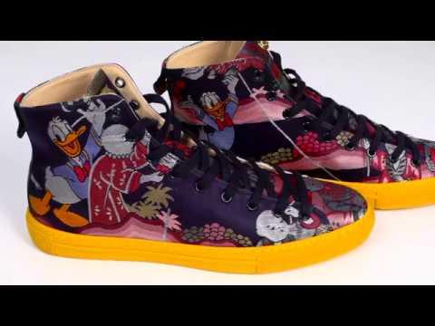 f441fd9b178c Gucci Jacquard High Top Donald Duck Sneakers X Vetro Power - YouTube
