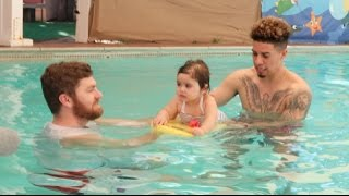 Watch Elle as she takes on her first swimming lesson... SUBSCRIBE: ...