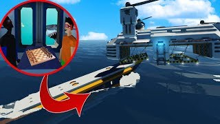 OUR PLANE SPLIT IN HALF!? (Stormworks Multiplayer Gameplay Roleplay) Sinking Ship & Plane Survival!