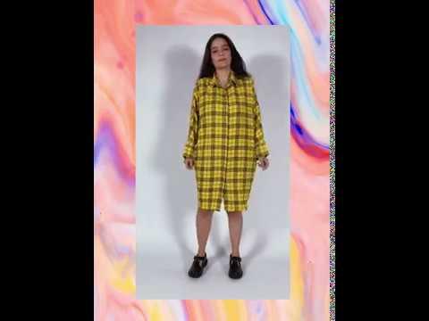 ANTÔNIA chemise - xadrez amarelo