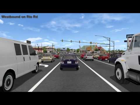 Route 29 Solutions: Rio Road Grade-Separated Intersection Drive-Through Simulation