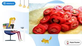 Салат из свежих и грилованных овощей с сыром Простые рецепты