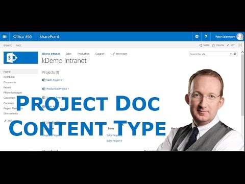 Create Sharepoint Online Project Content Type