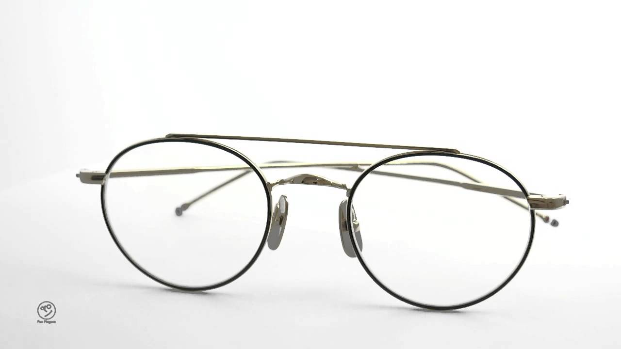 942150526825 THOM BROWNE. eyewear メガネ TB 101 D BLACK IRON 12K GOLD 49size f ...