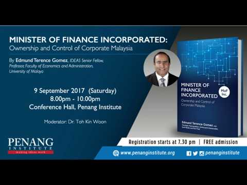 9 Sept 2017 Minister of Finance Incorporated : Ownership & Control of Corporate Malaysia