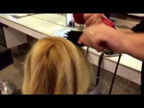 Koyu Kahve Saç Bigudi Balyaj Ile Açık Sarı Ya Dönen Saçlar Youtube