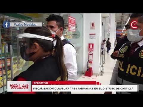 Fiscalización clausura tres farmacias en el distrito de Castilla