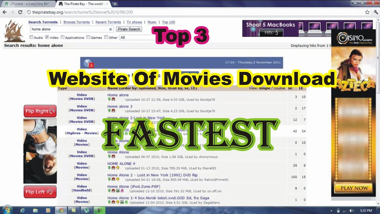 Download Top 3 Website for Movies Download HD, 3GP, WWE New 2019