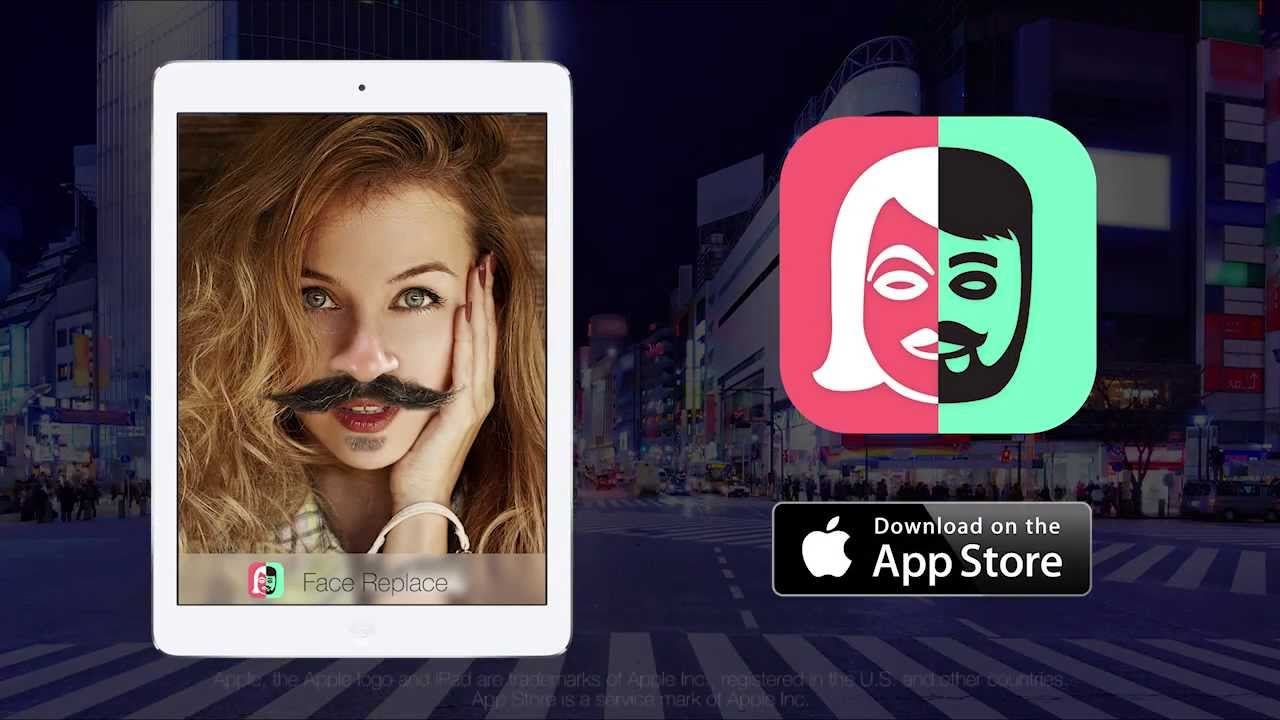 Replace face in photo app