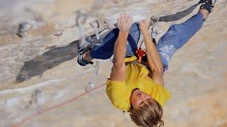 Alex Megos Climbs 'Van De Panique' (8c/5.14b) In The Pouring Rain | Epic Climber, Ep. 4