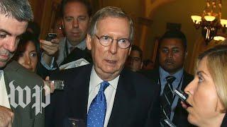 McConnell and Schumer speak on the Senate floor regarding Iran and impeachment