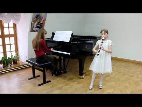 Г. Ф. Телеман Соната A-moll. 1 и 2 части. Елизавета Гамарис (8 лет)