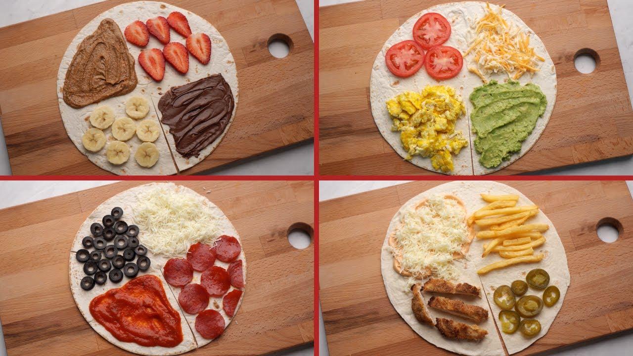 سندويتشات التيك توك 🤭 طريقة جديدة لعمل ساندويتشات مطبقة بحشوات مختلفة!