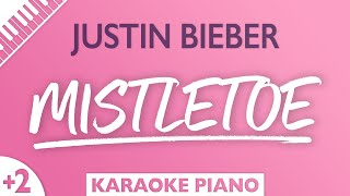 Mistletoe (Higher Key - Piano Karaoke Instrumental) Justin Bieber