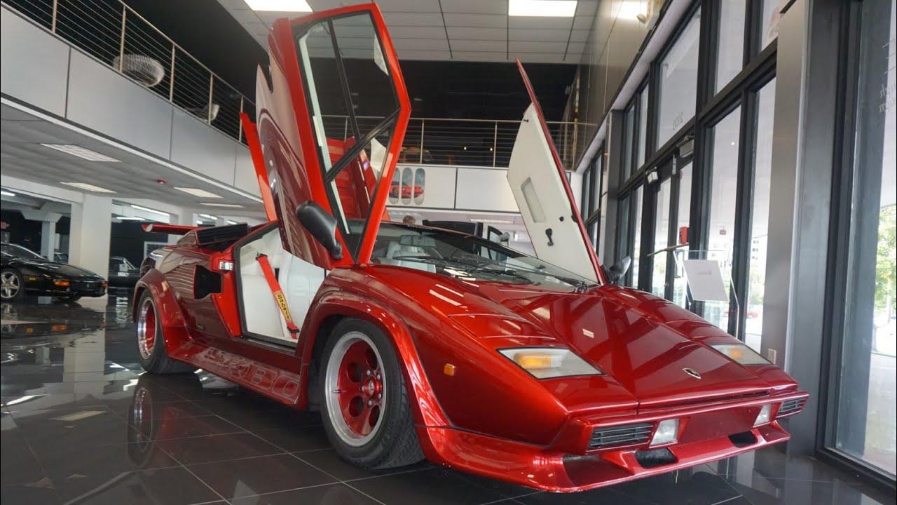 1 Of 2 Lamborghini Countach Turbo At The Curated Youtube