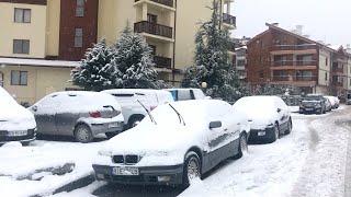 Февраль 2020 В Банско неожиданно выпал снег
