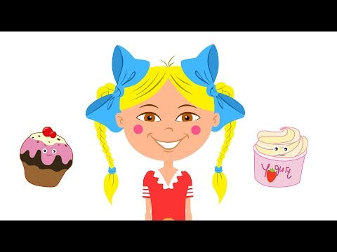 Развивающие мультики - Песенка для детей про еду и разные продукты - БЯКА