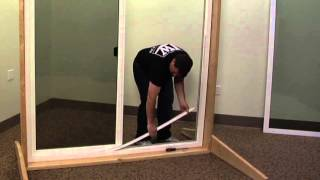 how to replace the operating panel track on a premium vinyl sliding patio door