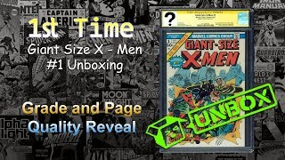 Giant Size X-Men #1 CGC UNBOXING. First Full Appearance of Colossus, Storm, Nightcrawler