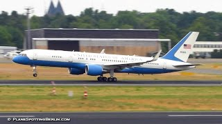 RARE! United Staates AIR FORCE TWO Boeing C-32 ► Takeoff from Berlin Tegel Airport [Full HD]